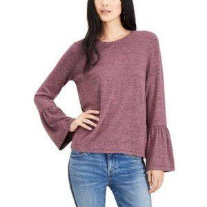 Lucky Brand Bell Sleeve Blanket Sweater Sz L